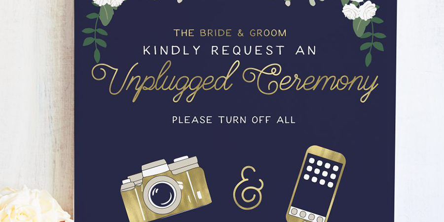 unplugged ceremony invites