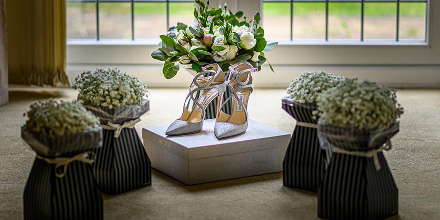 brides shoes photo
